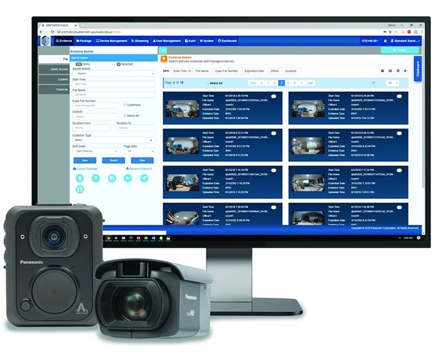 Panasonic's Unified Digital Evidence (UDE) combines command and control for Arbitrator in-vehicle systems and Body Worn Cameras with a secure, tamper proof evidence management system to ensure an unbroken chain of custody for virtually all digital evidence. Photo: Panasonic
