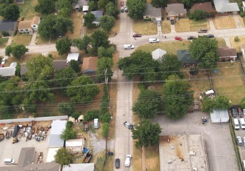 Aerial photo of the crime scene. Photo courtesy of Oklahoma City Police Department.