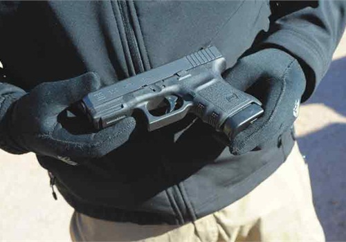 The Glock G30S officers a slim .45 ACP pistol for tactical officers. Photo: Mark W. Clark.