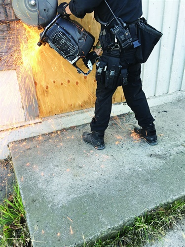 Participating officers gave the Haix boots high marks for how well they held up over time, as well as stability in different environments. Photo: San Francisco PD SWAT