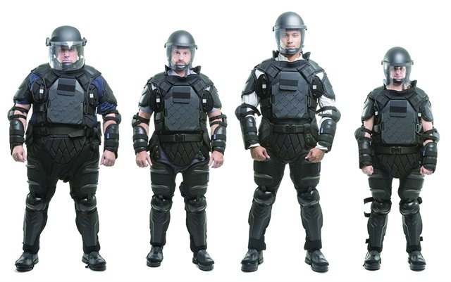 Sirchie's Tac Commander riot control suit adjusts to fit and protect officers of all sizes. Photo: Sirchie