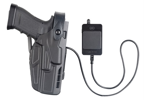 Vievu (Safariland) showed new technology at this year's SHOT Show that activates the officer's camera when he or she draws a tool or weapon from a special duty belt.