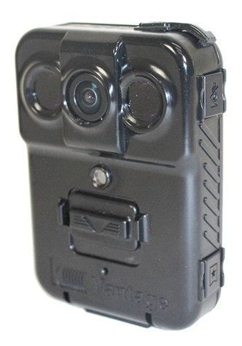 Kustom Signals' Vantage body-worn camera can upload files wirelessly to the company's Eyewitness in-car system so that officers don't have to turn in their cameras at the end of their shifts.