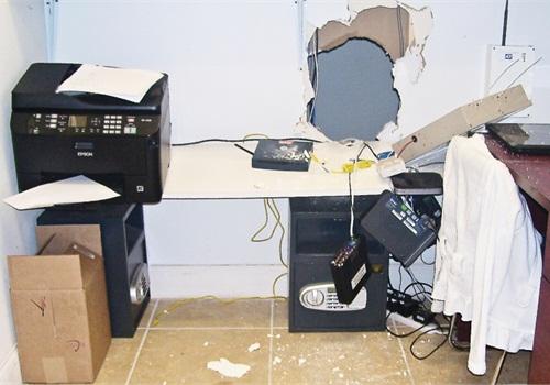 Burglars might come through the wall of an adjacent business. Photo: Amaury Murgado