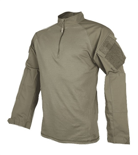The new ¼-zip combat shirt is made of a breathable cotton blend and Cordura nylon. (Photo: Tru-Spec)