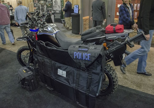 U.S. Armor created a custom ballistic protection system for the motorcycles of the Redondo Beach (CA) Police Department. (Photo: Michael Hamann)