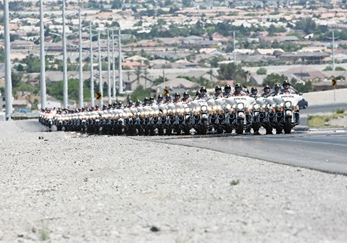 Last year the Las Vegas Metro PD motorcycle unit rode 1.7 million miles and experienced only four accidents that were caused by something the officer did or didn't do. Photo: Las Vegas Police Department.