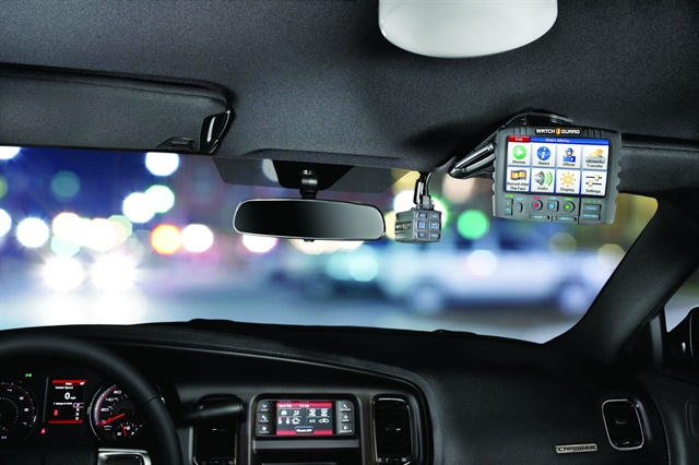 WatchGuard Video's 4RE in-car camera system integrates with body-worn cameras and can be used for interviews.