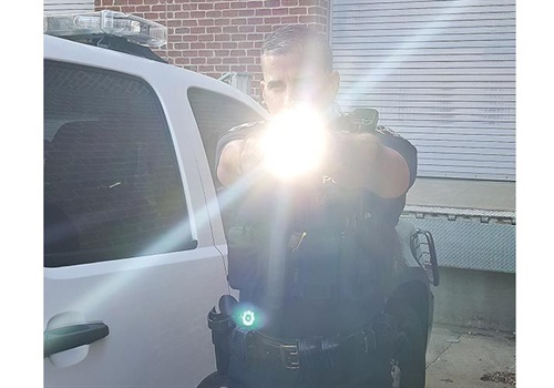 A weapon light can be used even in daylight to provide officers some concealment. (Photo: Brian Marshall)