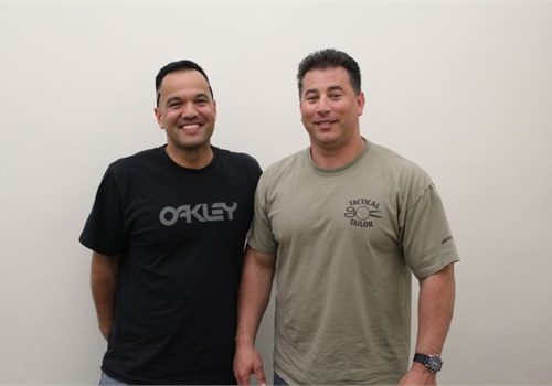Oakland PoliceOfficer Michael Igualdo and Officer Young remain friends.Photo: Paul Clinton
