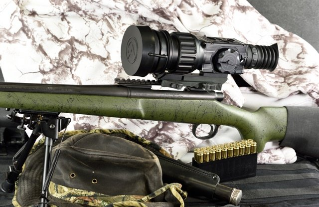Primary thermal targeting systems like the Armasight by FLIR Zeus Pro mount quickly to bolt-action rifles with a factory rail. Short Picatinny rails are readily available for most modern bolt guns if yours didn't come with one.