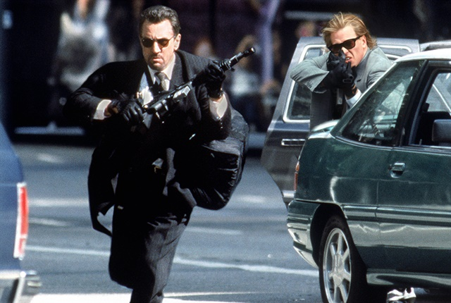 """Promotional still from the 1995 cops and robbers movie """"Heat."""" Copyright: Warner Bros."""