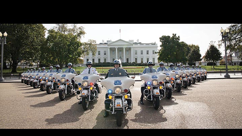 Special Events motor officers brave the elements to escort dignitaries as well as interact with...