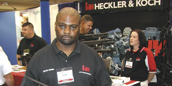 TREXPO attendees were drawn to the Heckler & Koch booth by the new 9mm UMP.