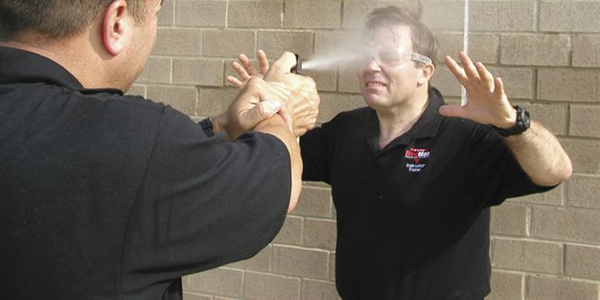 Co-author Gary T. Klugiewicz takes a shot to the face.