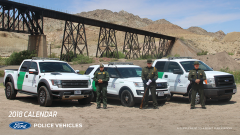 Ford Police Vehicles and Officers that Drive Them Featured in Calendar