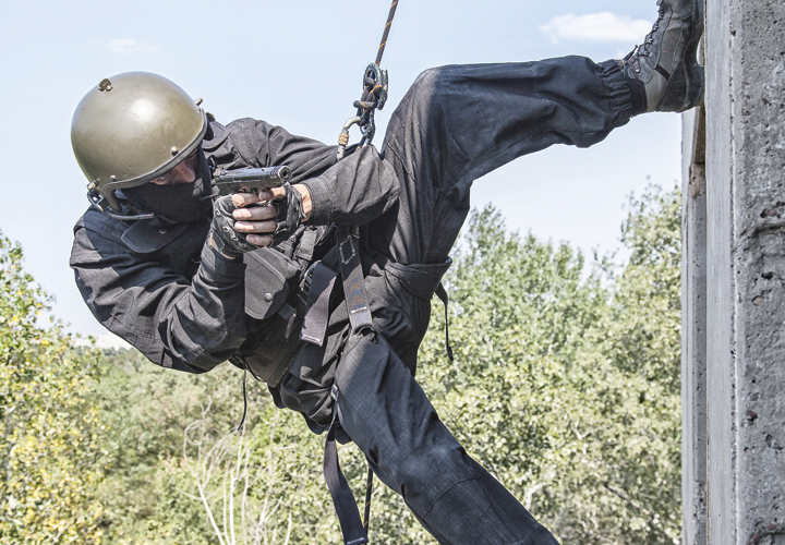 Rappelling: Stopping the Fall