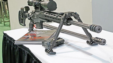 Ritter & Stark exhibited its SX-1 Modular Tactical Rifle.