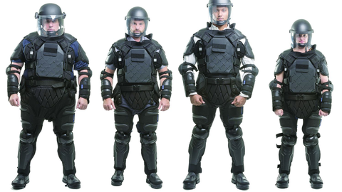 Sirchie's TacCommander riot control suit adjusts to fit and protect officers of all sizes.