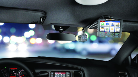 WatchGuard Video's 4RE in-car camera system integrates with body-worn cameras and can be used...