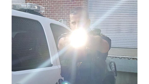 A weapon light can be used even in daylight to provide officers some concealment. (Photo: Brian...