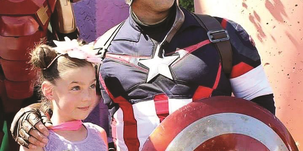 Comic book costume players interact with the public at last year's Superhero September event....