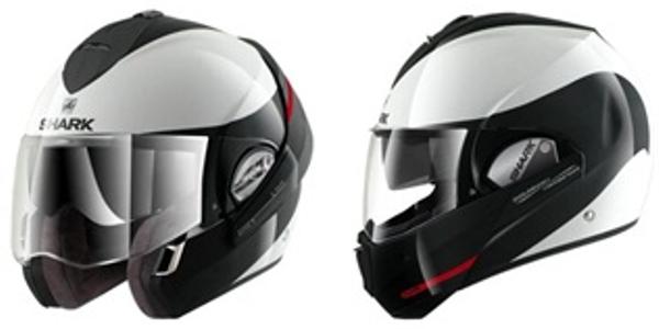 The Shark Evoline modular helmet offers greater protection than a three-quarter helmet. Photo...