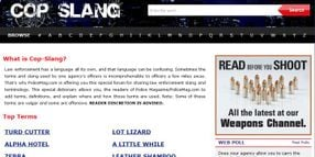 Cop Slang: Our Favorite Terms From You