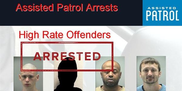 Photo of theft suspects arrested in Dayton, Ohio, by officers using Assisted Patrol bait devices.