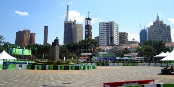 Photo of a view of Nairobi courtesy of Wikimedia.