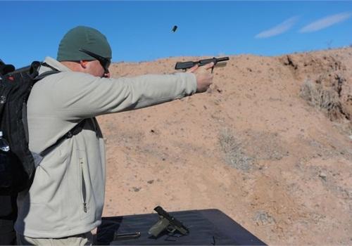 Heckler & Koch introduced its HK45 Tactical pistol. Photo: Mark W. Clark