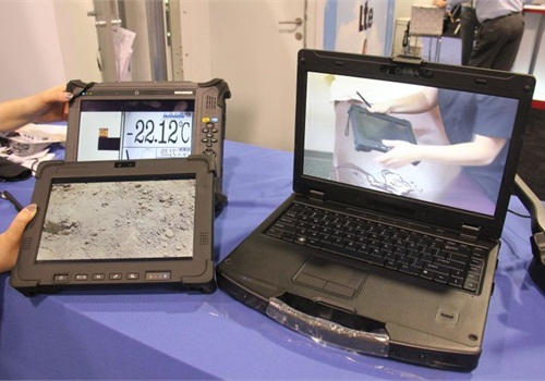 GammaTech introduced a pair of rugged tablets and notebook.