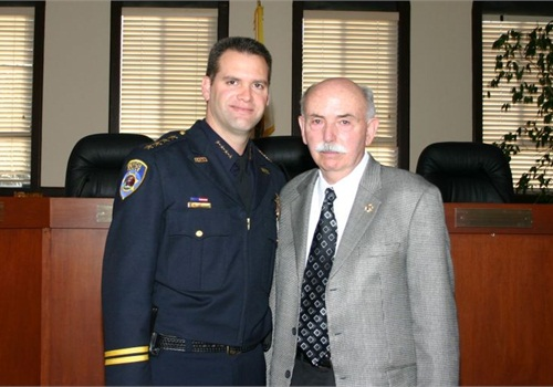 Chief Andrew Bidou and his father Pierre Bidou have served as top cop for the Benicia (Calif.) Police Department.