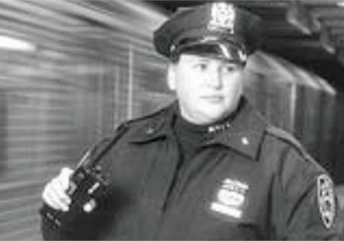 """NYPD transit officer Carol Paukner was the inspiration for the book """"We're Not Leaving."""" Photo: NAWLEE"""