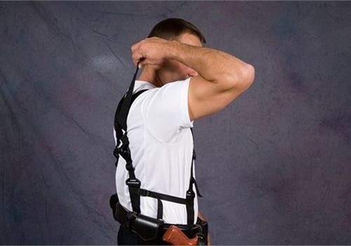 Back Defense Systems' Back Defender is a concealed duty belt suspension system.