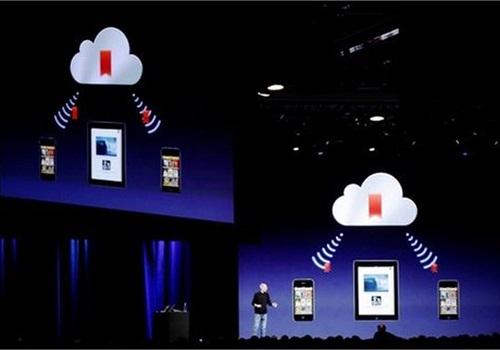 Apple's Steve Jobs demonstrates iCloud in June 2012. Photo via Netaberisha/Wikimedia.