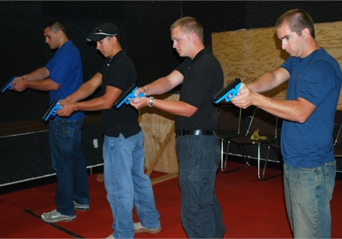 Students run through the trigger-pull assessment. Photo: Bruce Cameron.