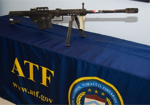 Branch Davidians fired this .50-caliber Barrett rifle at ATF agents during the Waco raid. Photo courtesy of NLEOMF.