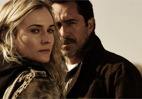 Diane Kruger and Demian Bichir play U.S. and Mexican detectives on the border working a serial killer case. Photo via FX.