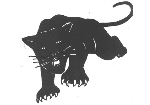 Black Panther Party logo courtesy of Richard Valdemar.
