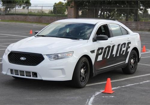 The Ford Police Interceptor sedan. Photo: Paul Clinton