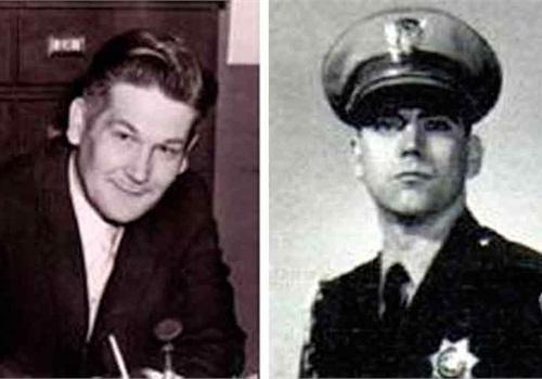 San Bernardino County Sheriff's Lt. Al Stewart (left) and California Highway Patrol Officer Larry Wetterling. Photos via LAPPL.