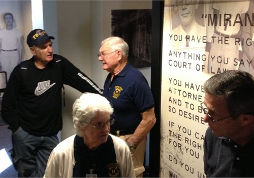 Retired Capt. Carroll Cooley appears at the Phoenix Police Museum to discuss the Miranda arrest. Photo by Mark W. Clark.