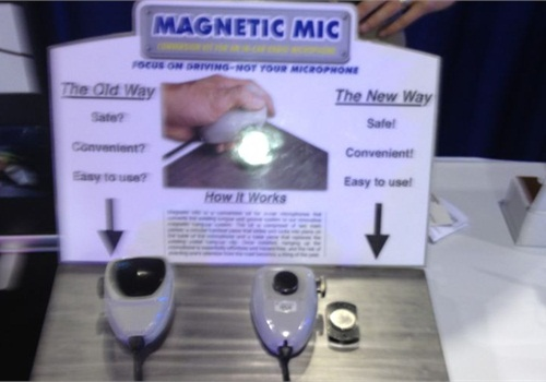 Magnetic Mic is a nifty gadget that safely and easily secures a radio mic with no fumbling for a hook.