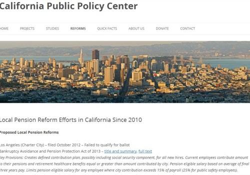 Beware of anti-pension propoganda from the California Public Policy Center.