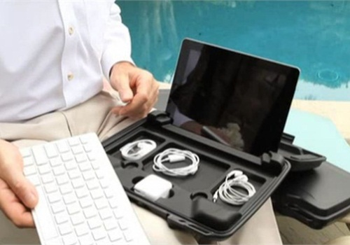 Pelican's 1075 hard case provides rugged protection for the iPad.