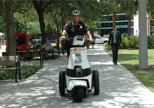 Tampa Police Officer Raymond Green operates a T3 Motion vehicle. Photo courtesy of TPD.