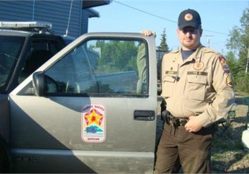 VPSO Sgt. Dan Decker patrols Ekwok. Photo courtesy of Alaska DPS.