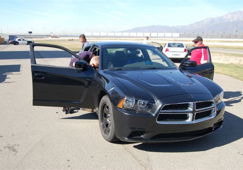A Dodge Charger during 2010 LASD testing. Photo: POLICE file