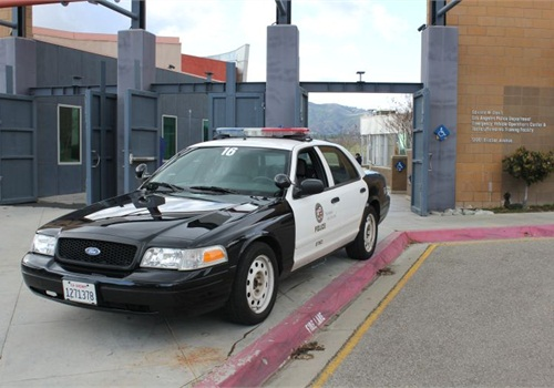LAPD recruits spend a full week at the department's Emergency Vehicle Operations Center (EVOC) in Granada Hills. Photo: Paul Clinton